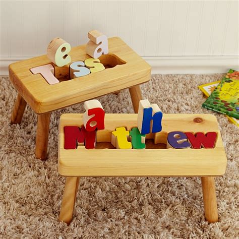 Name Puzzle Step Stool By Melissadoug by Unique Baby Gifts Gifts