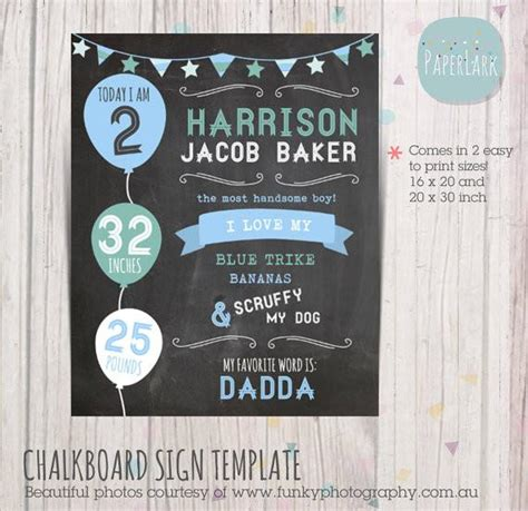 chalkboard printable sign template for photography prop
