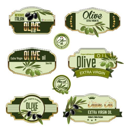 Olive Oil Bottle Label Free Vector Download 9 569 Free Vector For Commercial Use Format Ai Olive Labels Templates