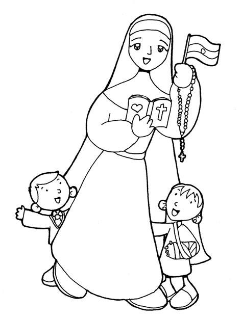 imagenes para colorear religiosas catolicas dibujos para catequesis beata mar 205 a crescencia p 201 rez