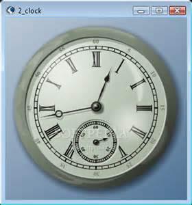 desktop clock widget with numerals