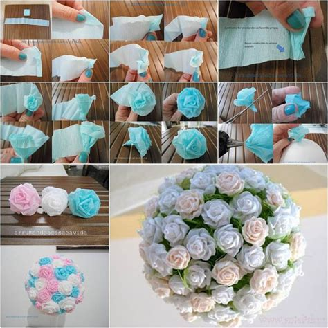 How To Make Paper Flower Balls - how to diy beautiful crepe paper flower beautiful