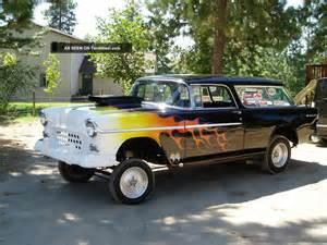 1955 Chevrolet Gasser 1955 Chevrolet Nomad Gasser Black With Flames