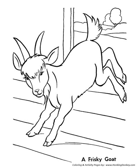 goat farm coloring pages amper bae animal coloring pictures