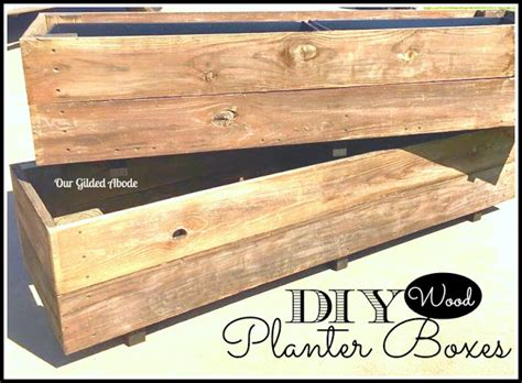 Pressure Treated Wood For Planter Boxes by Diy Wood Planter Boxes