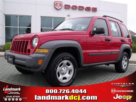 red jeep liberty 2005 2005 flame red jeep liberty sport 29404424 photo 10
