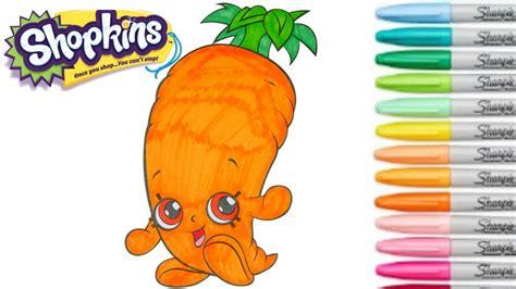 shopkins coloring book wild carrot season  colouring