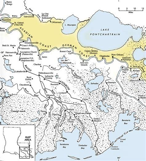 louisiana delta map l acadie historic heritage of louisiana