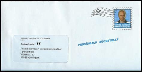 Postwurfsendung An Alle Haushalte 2300 philaseiten de deutsche post postwurfsendung und