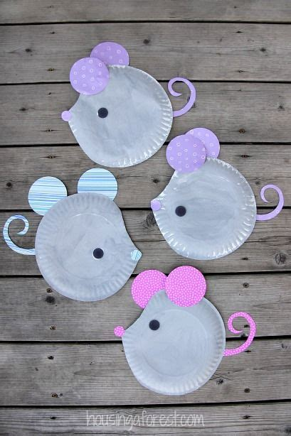 Easy Paper Plate Crafts For - paper plate mouse easy craft diy craft s mydiddl