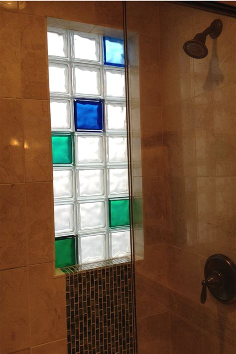 glass block window in shower how to install a glass block shower window shower window
