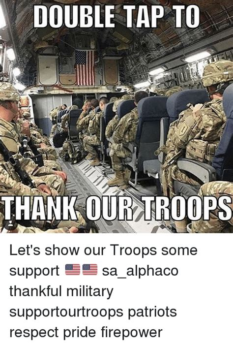 tap to thank our troops let s show our troops some