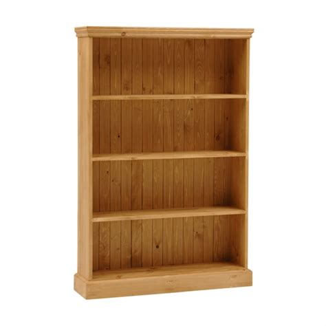 dorchester pine wide 5ft bookcase 4 shelves m262