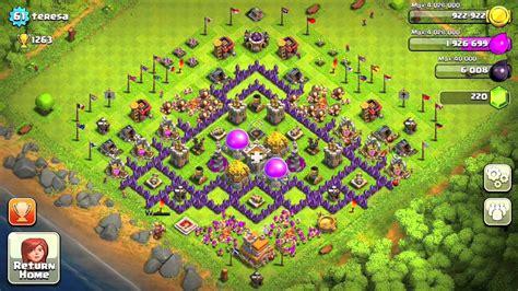 layout home village coc design village clash of clans