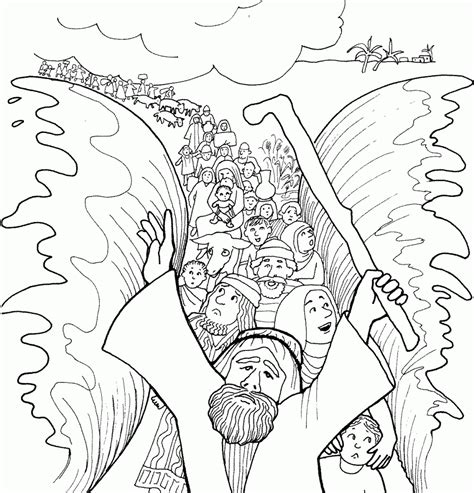coloring pages of baby moses free printable moses coloring pages for kids