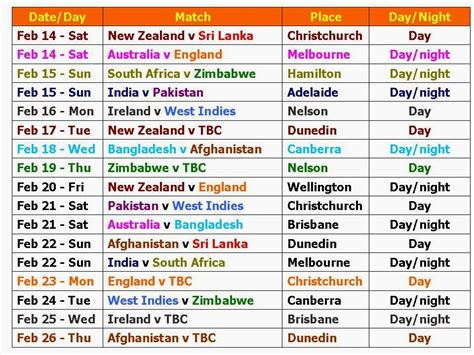 printable schedule rugby world cup 2015 icc world cup 2015 schedule and time table
