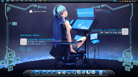 computer themes setup desktop setup dec 2011 dreamscene and rainmeter by