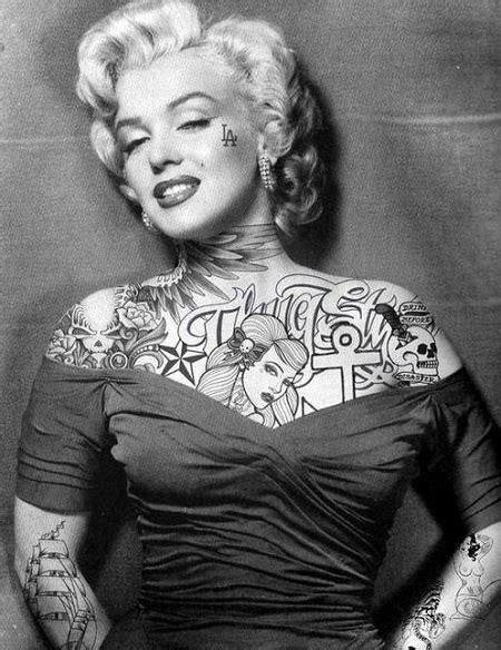 marilyn monroe with tattoos marilyn alexandra decuseara