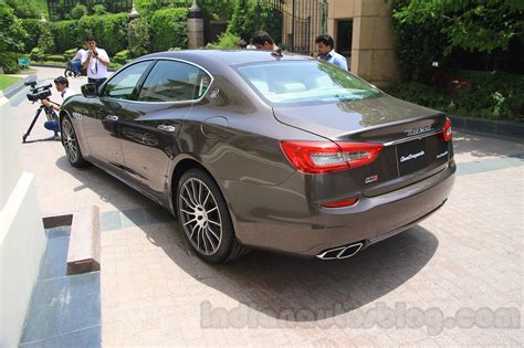 maserati india maserati quattroporte rear quarters india reveal indian