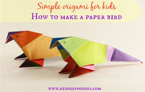 How To Make A Simple Paper Bird - simple origami for how to make a paper bird