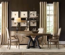 Round Table Dining Room Furniture Hooker Furniture Dining Room Corsica Dark Round Dining