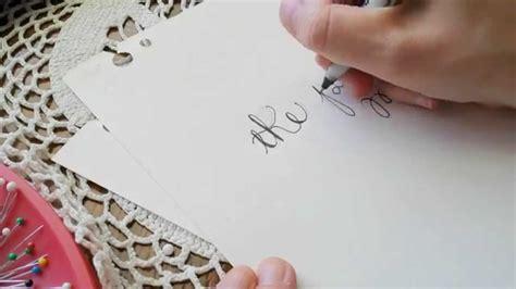 hand lettering tutorial youtube hand lettering tutorial easy youtube