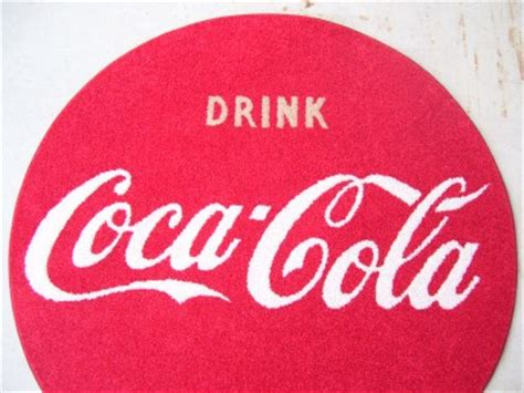 coca cola rug custom coke drink coca cola 50s button sign logo 45 quot area rug shaw carpet ebay