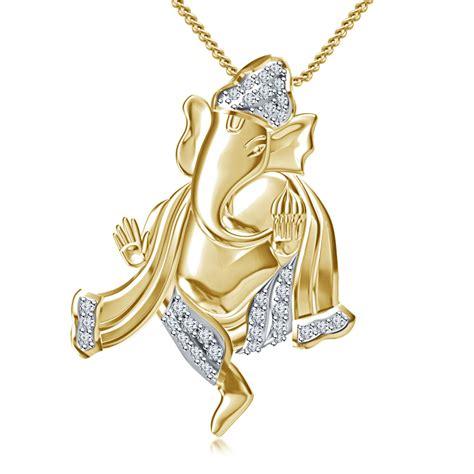 vorra fashion 14k gold plated 925 silver white cz ganesh