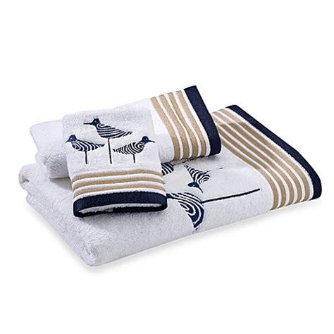 kate spade shower curtain sandpiper kate spade new york sandpiper bath towels 100 cotton