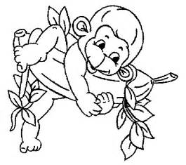what color are monkeys 7 free baby monkey coloring for drawing by