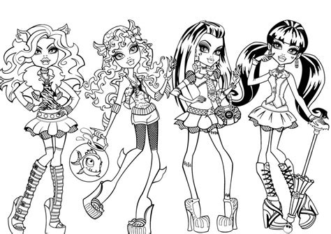 monster high coloring pages koloringpages