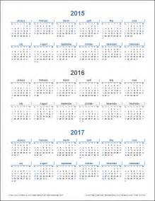 3 Year Calendar Template by 3 Year Calendar Template For Excel