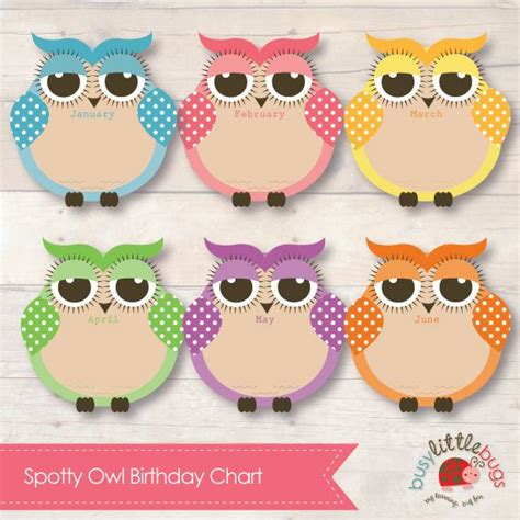 printable owl birthday chart 17 best images about birthday chart ideas for kids on