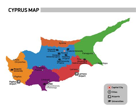 cyprus map cyprus unilink educational services