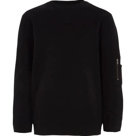 Zip Sleeve Sweatshirt boys black zip pocket sleeve sweatshirt hoodies