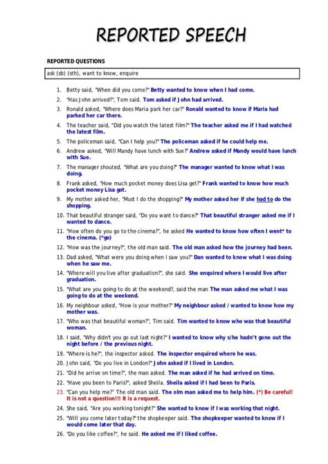 Who Reported Me On by 22 Best Reported Speech Images On Reported Speech Indirect Speech And