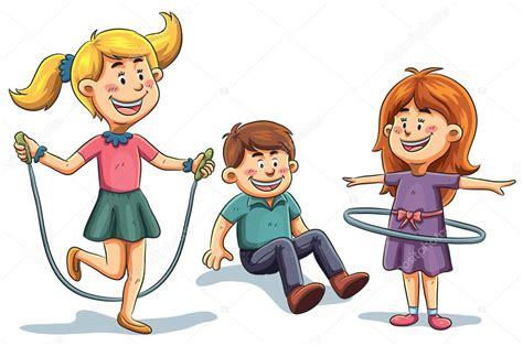 imagenes animadas niños jugando ni 241 os de dibujos animados vector de stock 169 h4nk 44783551