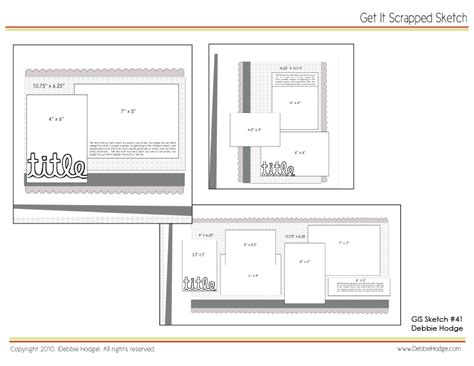 scrapbook page templates free scrapbook page sketch and template bundle march 19 2010