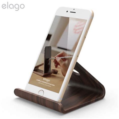 iphone desk stand elago w2 universal wooden smartphone tablet desk stand