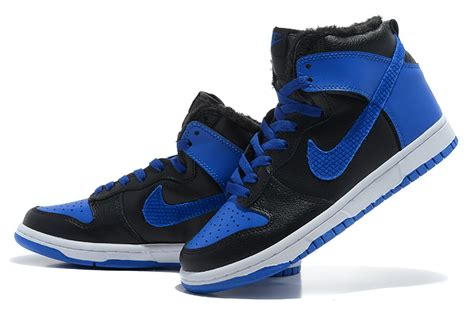 nike dunk high shoes fur inside blue black review