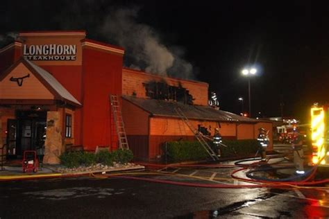 horns house longhorn steak house fire