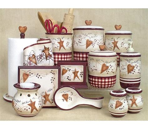 Hearts And Stars Kitchen Collection Dinnerware Primitive Country Dinnerware Sets Primitive