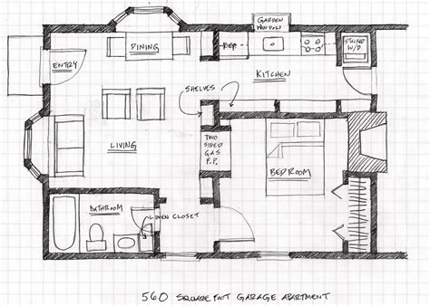 Garage Apartments Floor Plans | small scale homes floor plans for garage to apartment
