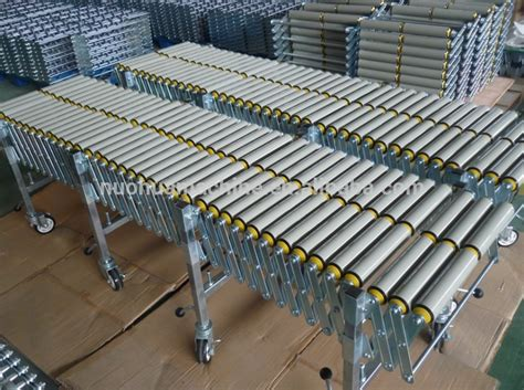 Gravity Roller Conveyor Roller Pvc Conveyor Roller telescopic gravity extendable pvc roller conveyor