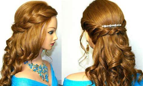 evening hairstyles to do at home easy prom hairstyles for long hair to do at home