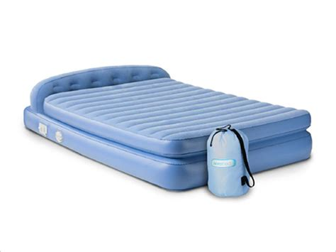 inflatable bed with headboard aerobed 19813 comfort hi rise inflatable mattress with