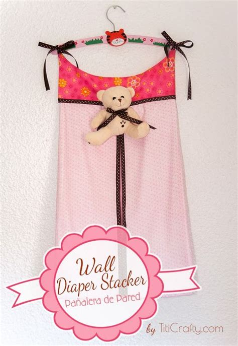 pattern for hanging diaper holder wall diaper stacker a nice touch for a baby room style