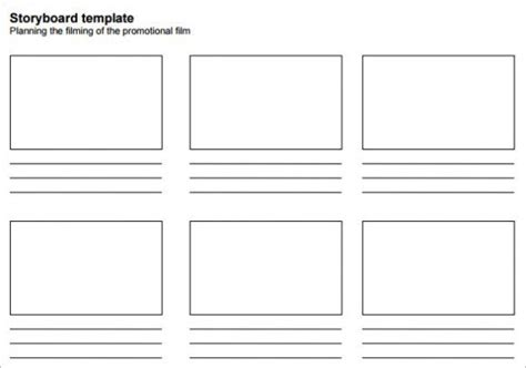 printable template storyboard professional blank animation storyboard template word pdf