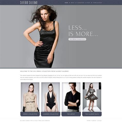 high fashion website template free website templates