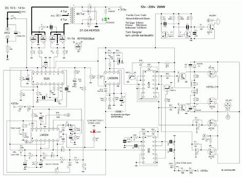 dc to ac inverter circuit diagram for 12v 100w dc power